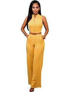 52d6bc1e953e Women s Solid   Polka Dot   Striped White   Black   Yellow Jumpsuits ...