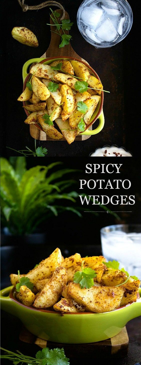 Spicy Potato Wedges | Video | Nish Kitchen
