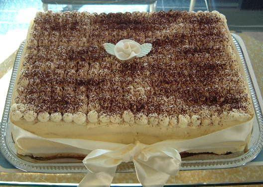 delicious birthday tiramisu cake with special decoration