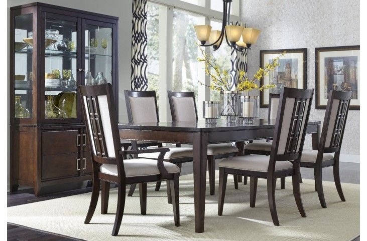 Brighton Merlot Rectangular Extendable Dining Room Set  Muebles Impressive Extendable Dining Room Sets Decorating Inspiration