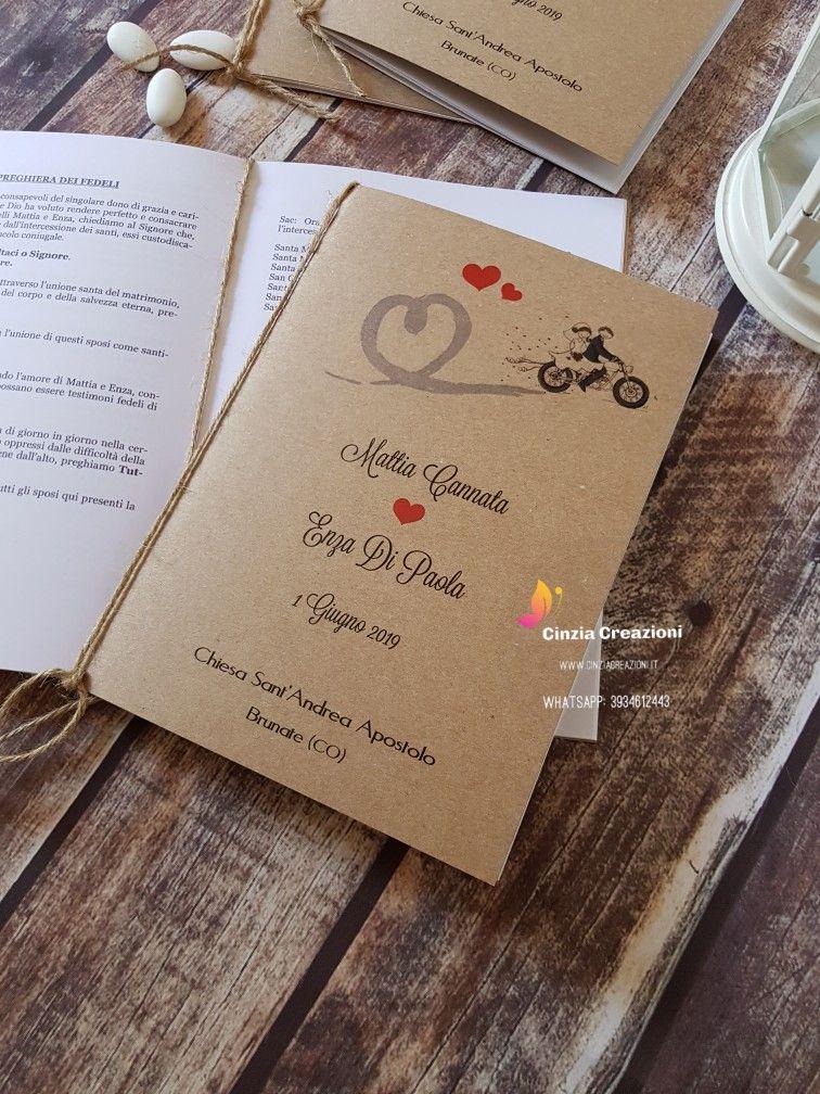 Libretto Messa Matrimonio Tema Moto Viaggio Travel Matrimonio Weddingideas Weddingparty Librettimessa Librettomes Matrimonio Nozze Partecipazioni Nozze