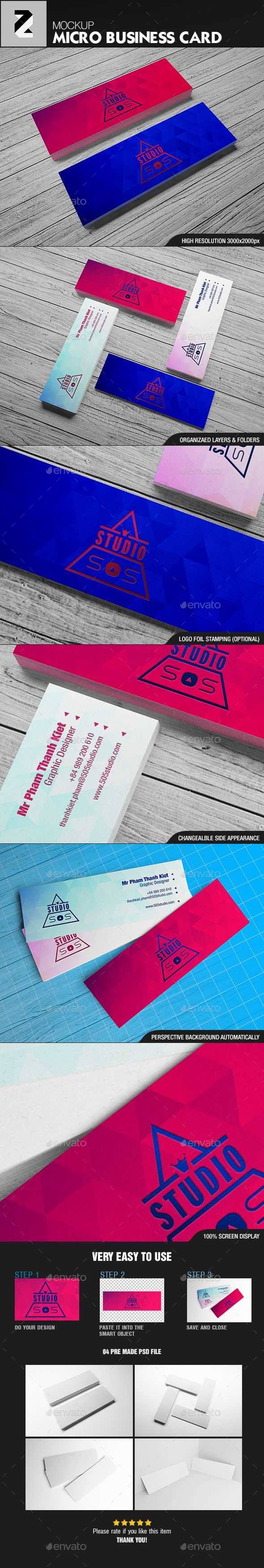 Realistic micro business card mockup pinterest mockup business micro business card mockup business cards print download here httpsgraphicriveritemrealistic micro business card mockup19727202ref colourmoves