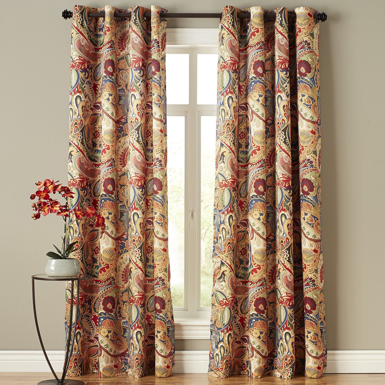 Vibrant Paisley Grommet Curtain Paisley Curtains Living