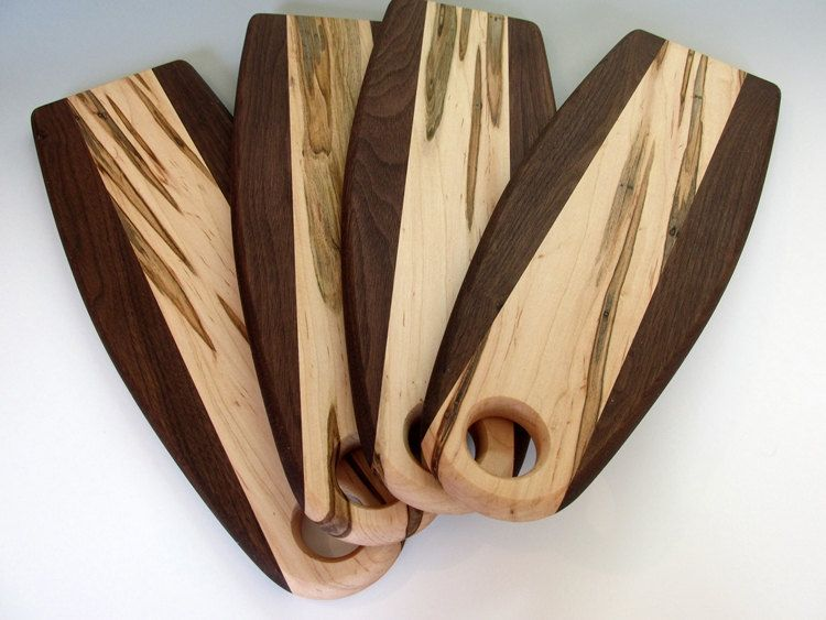 Breadboard walnut and ambrosia maple wood carving