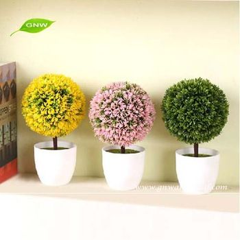 4 Artificial Plastic Grasses White And Yellow Blooming Cactus Succulents Plants