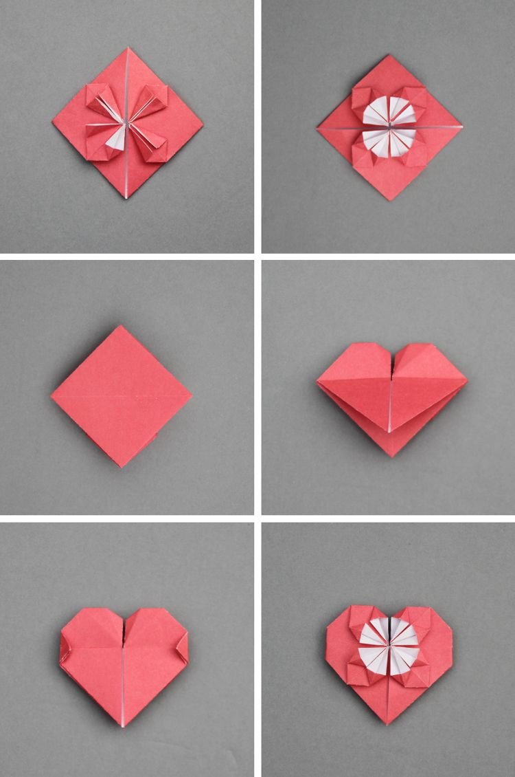 How To Make Origami Blossom Hearts Gathering Beauty Valentines Origami How To Make Origami Origami Easy