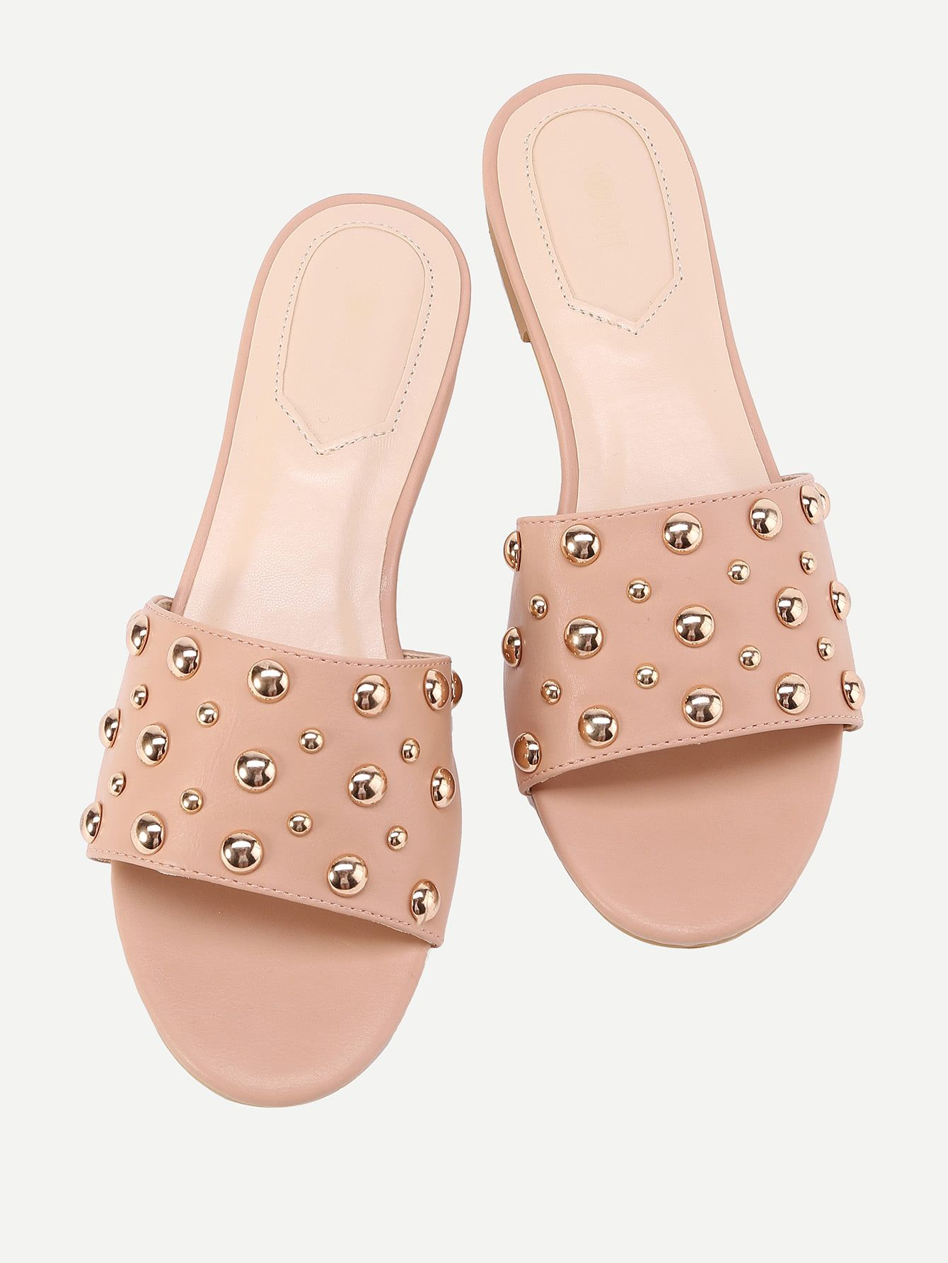 b87241f6cb4 Shop Beaded Detail Flat Sandals online. SheIn offers Beaded Detail Flat  Sandals   more to fit your fashionable needs.