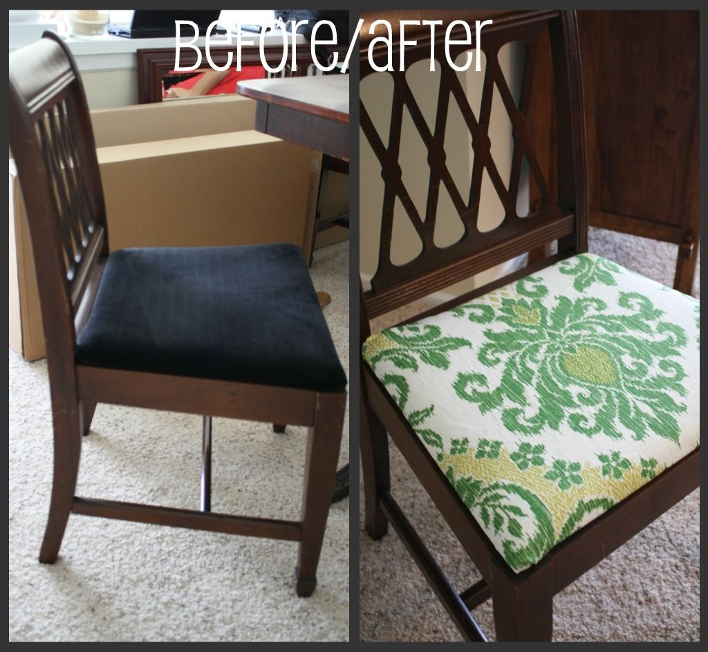 Will Surely Have To Use This On Our Hand Me Downs From Friends And Beauteous Reupholstered Dining Room Chairs Inspiration Design