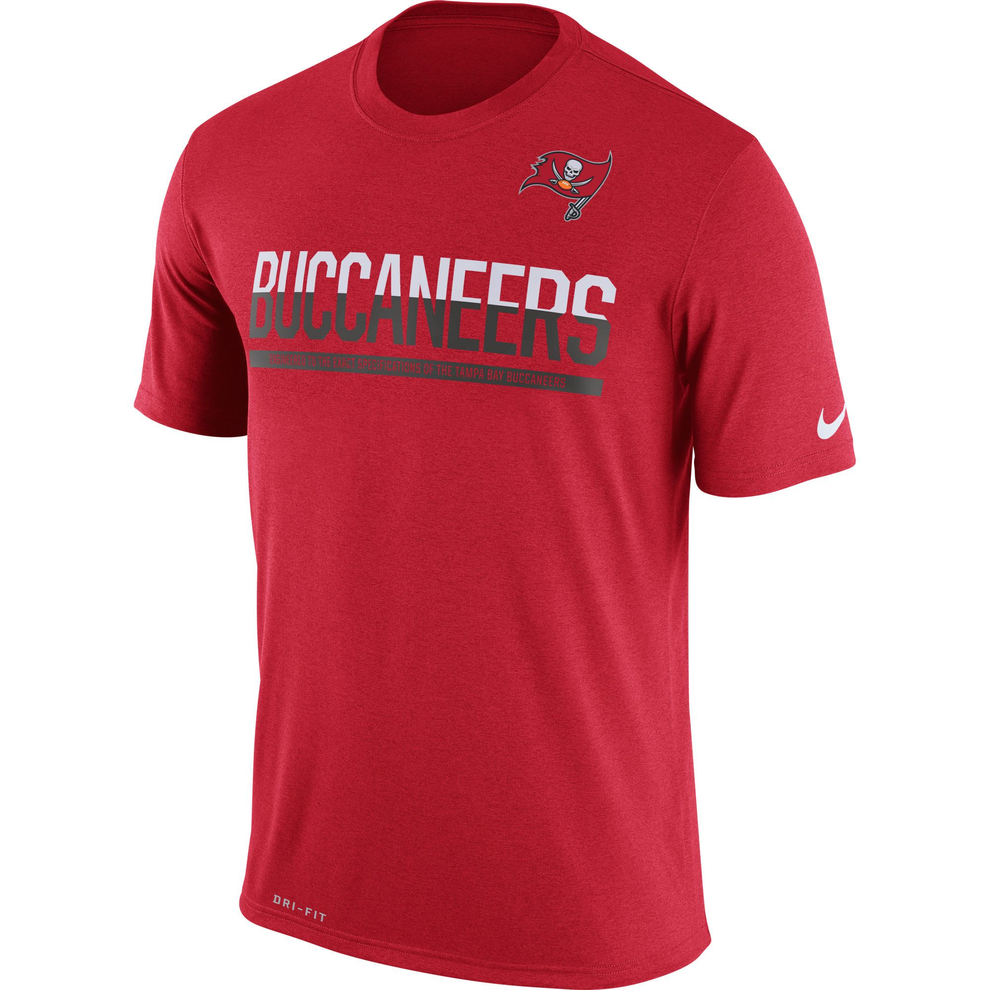 Nike Tampa Bay Buccaneers Red Team Practice Legend Performance T-Shirt