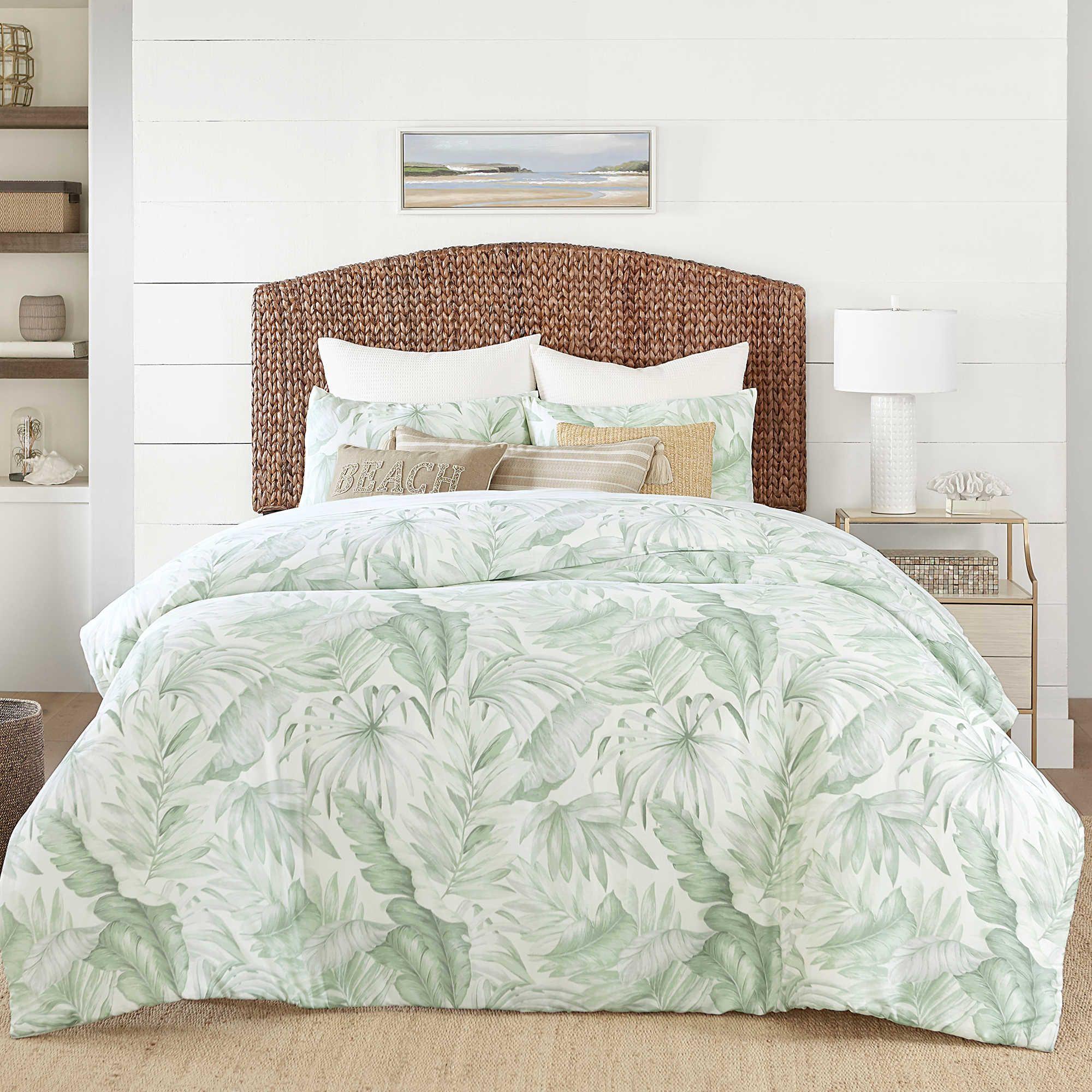 . Coastal Living  Green Palm Reversible Comforter Set   House in 2019