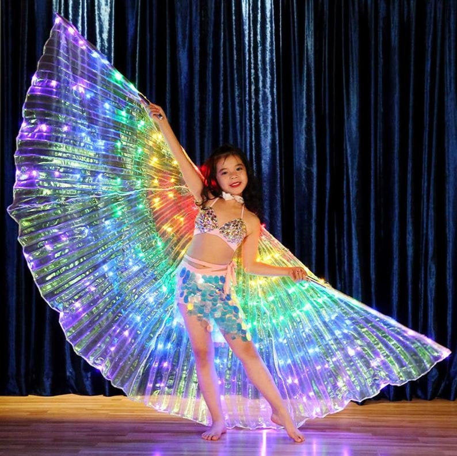 Fairy Rainbow Carnival Festival Girls LED Wings