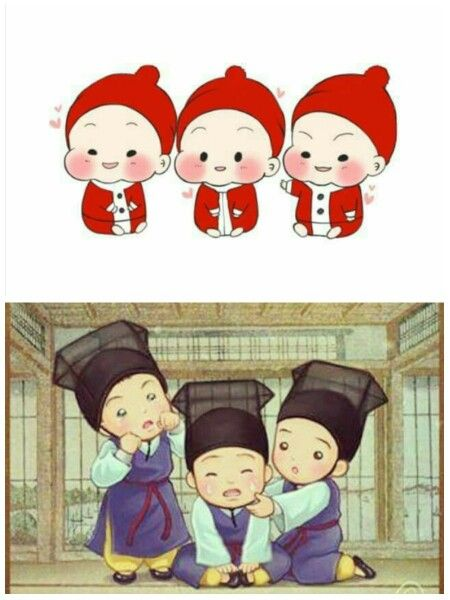 When I was having a chitchat w/ myfriends, I said that really wants triplets in my future  So soon talked bout it since i am not yet have boyfriend, hahaa But hope it will come true !!  #triplets #daehan #minguk #manse #babies