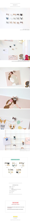 텐바이텐 10X10 : 고양이 얼굴 마그넷