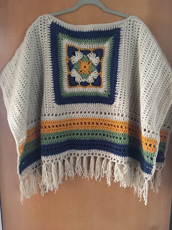 How to Crochet a Solid Granny Square #grannysquareponcho