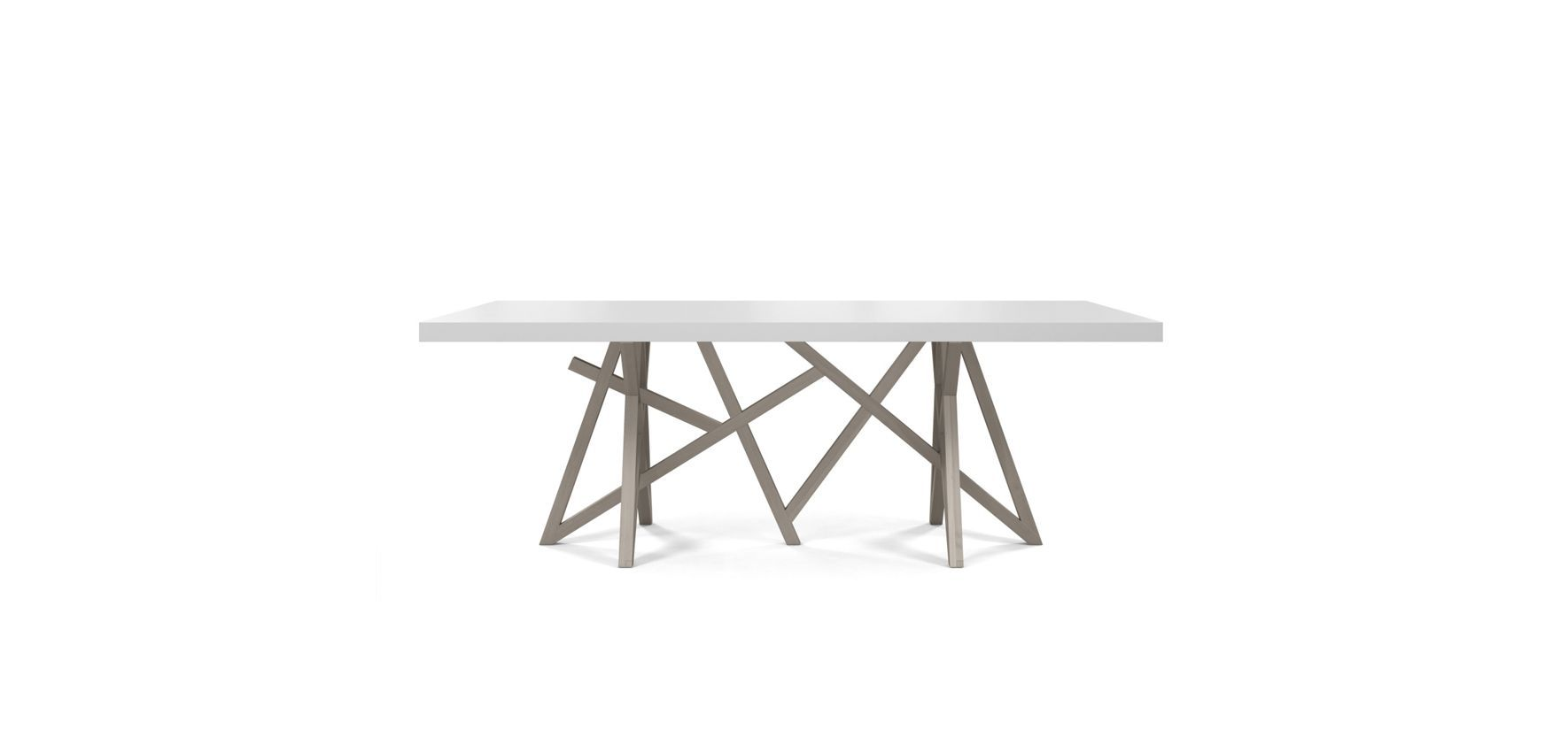 Dining Table With Top In High Resilience Matte Lacquer