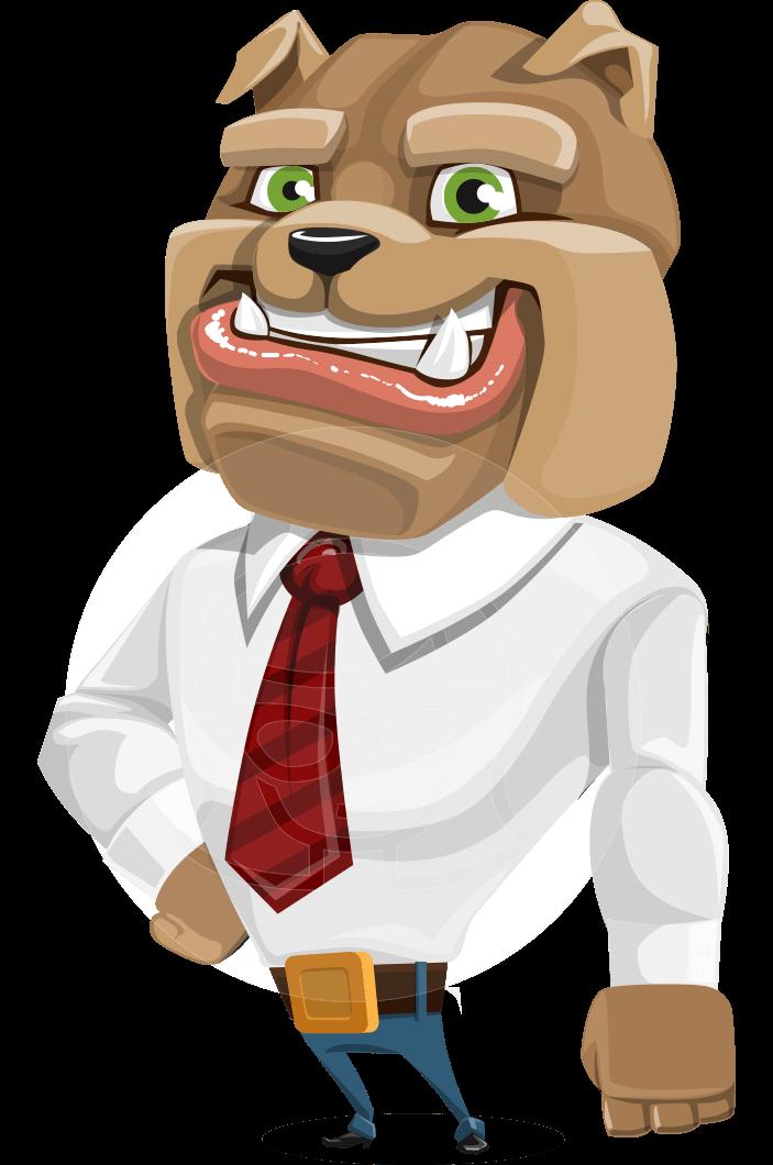 business confident dog cartoon vector character. Black Bedroom Furniture Sets. Home Design Ideas