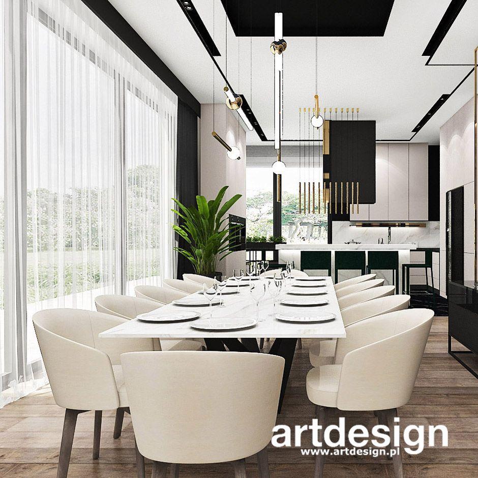 Nowoczesna Jadalnia Z Duzym Stolem Perfect Balance Wnetrza Rezydencji Home Decor Home Luxury Homes