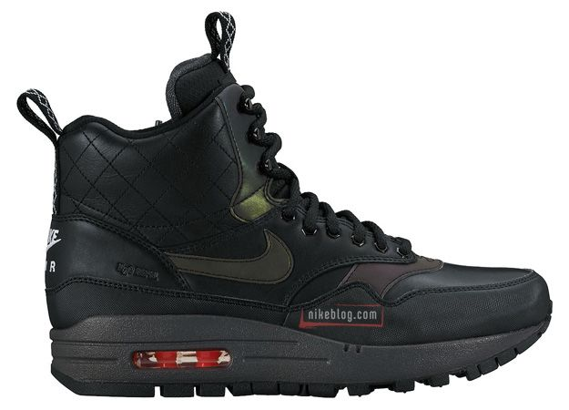 new concept a9690 aa254 Nike Air Max 1 Mid Sneakerboot Reflect Black on Black