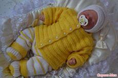 """Комплект для новорожденных малышей """" птенчик"""" - Вязание для детей - Страна Мам"""