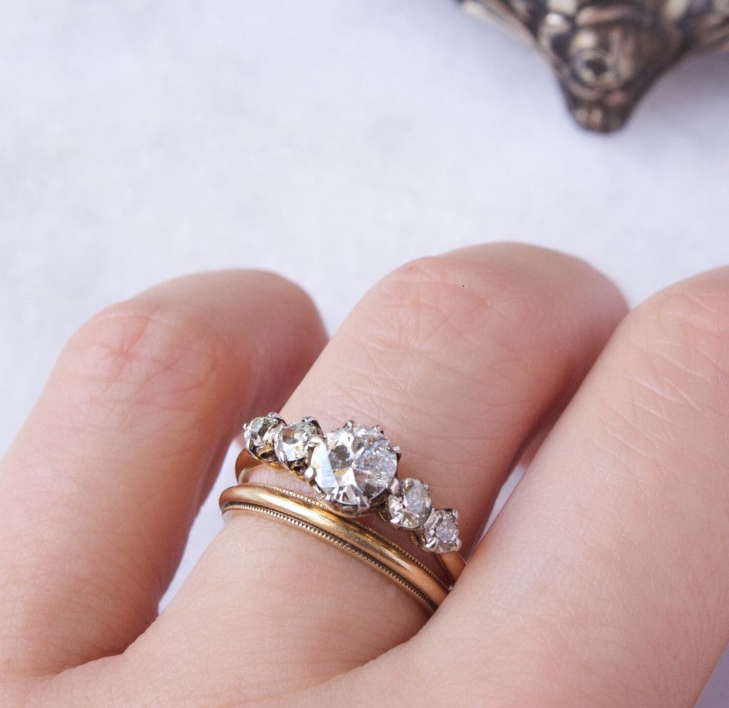 Vintage 5 Diamond Engagement Ring- Arielle – Victor Barbone ...