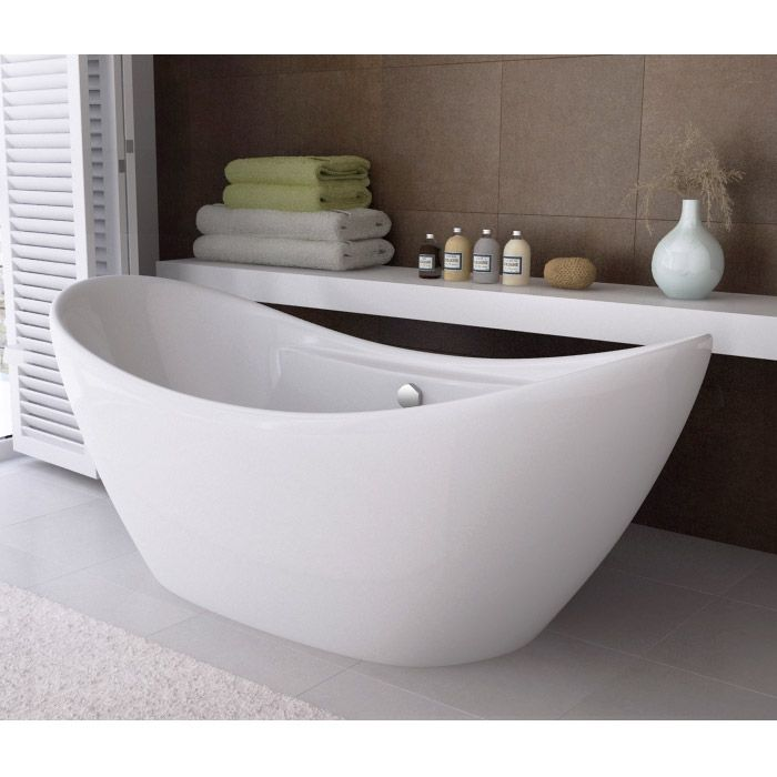 This Capri Free Standing Bath has a double ended \'bateau\' boat shape ...