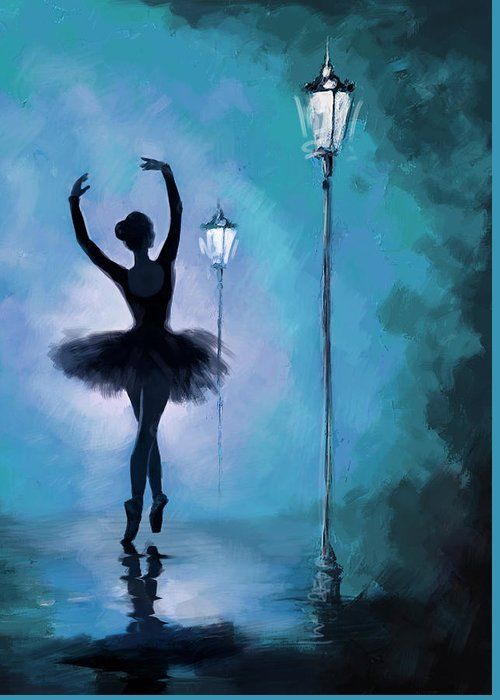 Ballet in the Night Greeting Card for Sale by Corp