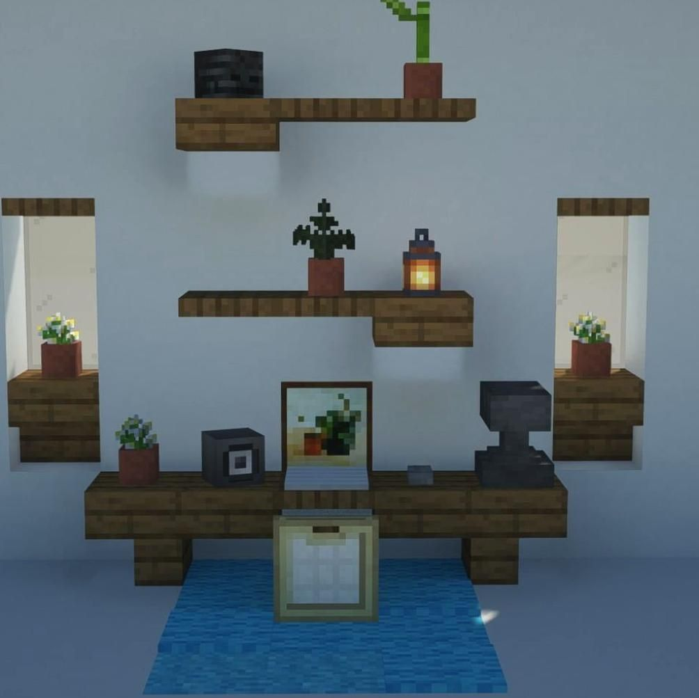 969 Gilla Markeringar 4 Kommentarer Seanbits Seanbits P Instagram Heres A Little Desk Design Be Sure To F In 2020 Minecraft Designs Minecraft Room Minecraft Bedroom
