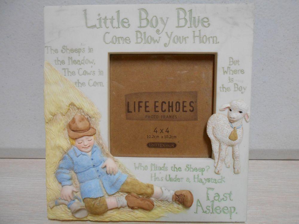 Nostalgic 3 D Desk Top Picture Frame Little Boy Blue Child Nursery