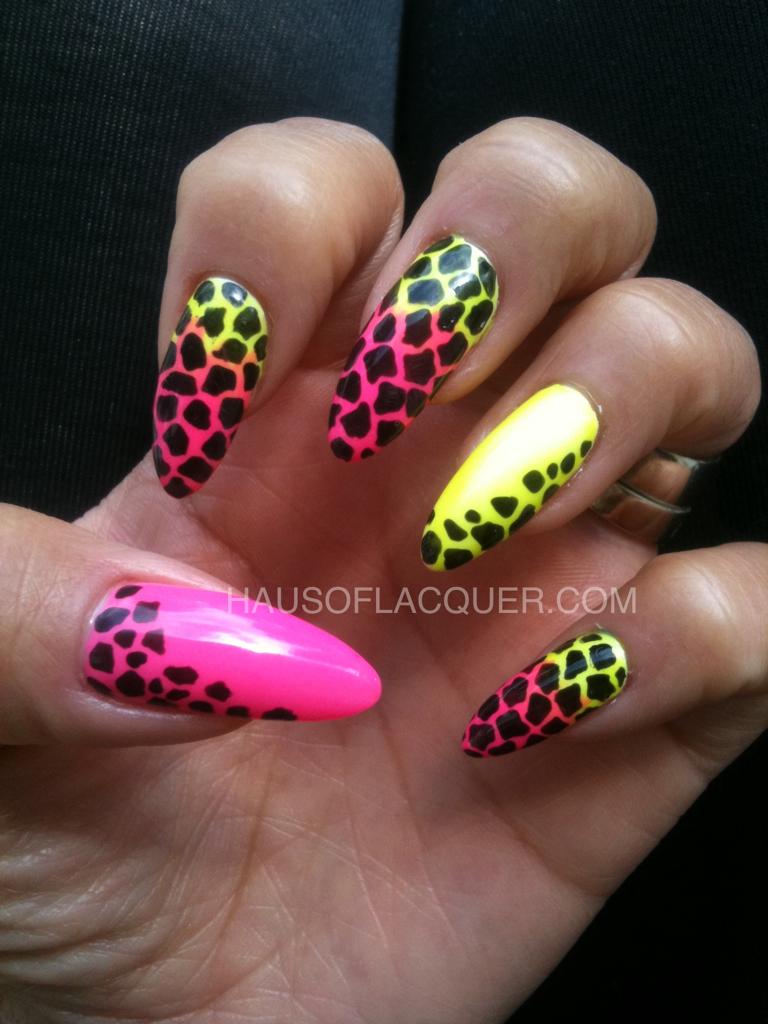 Fun summertime nails. Neon. Leopard. Cheetah | Nail Art | Pinterest ...