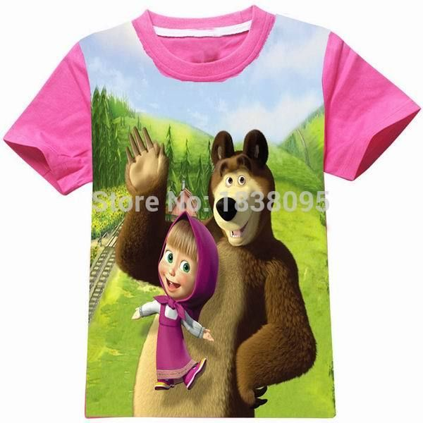 3a7c4791db17d 2 To 9Years Old MASHA AND BEAR Children Girls Tops Tees T Shirt New ...