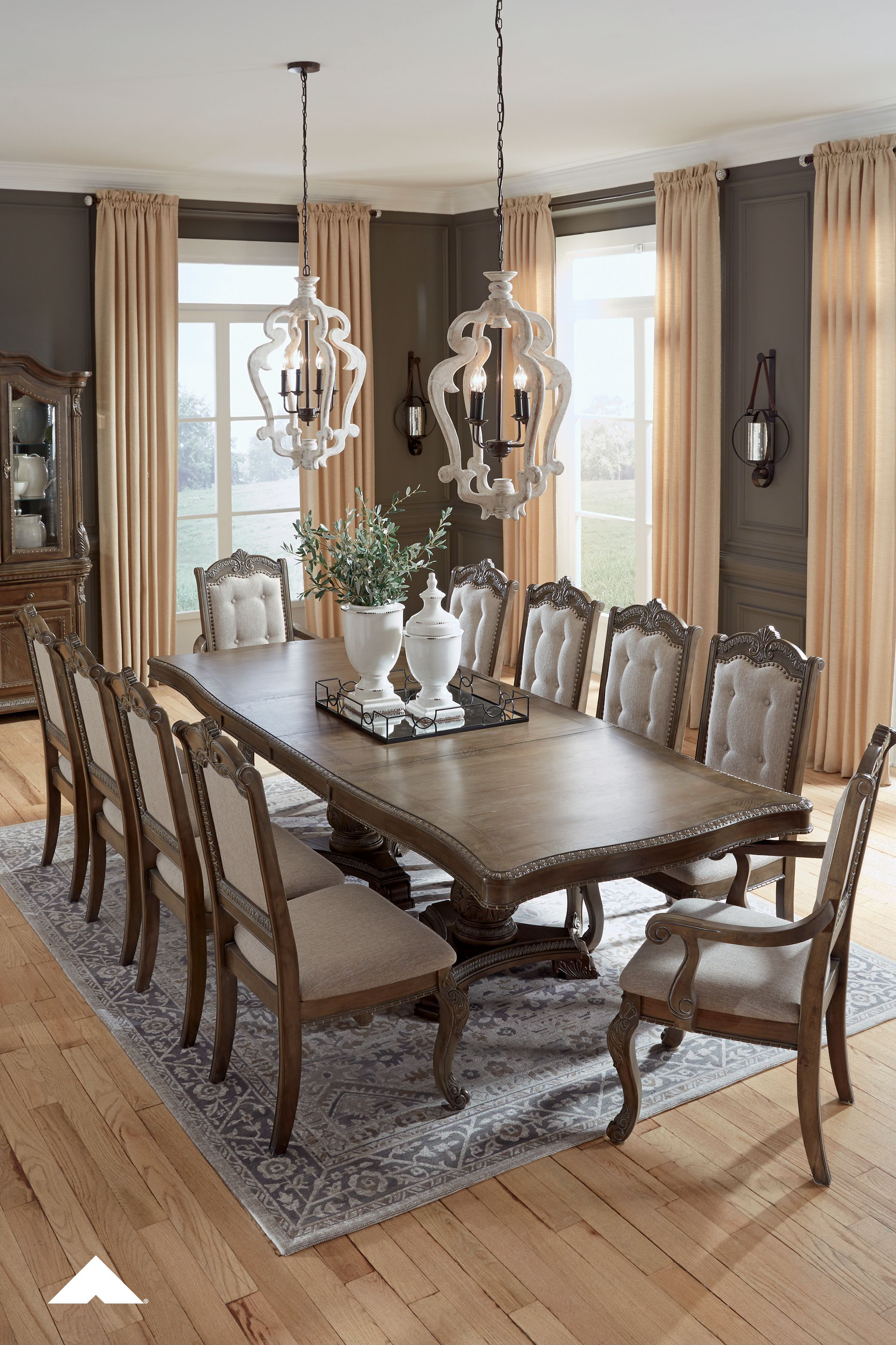 Charmond Dining Room Set By Ashley Furniture Classic Traditional