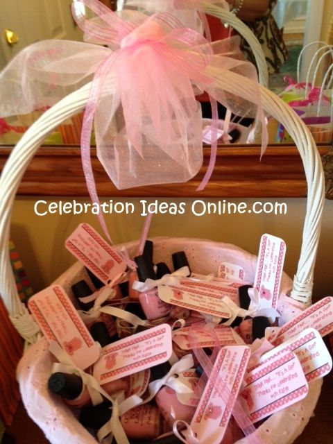 baby shower favor idea think pink it s a girl pretty display