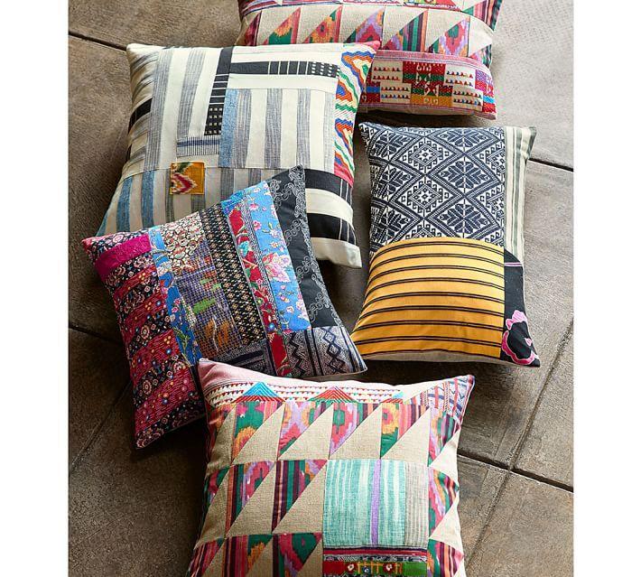 Pauline Boyd Patchwork Nightstorm Stripe Pillow Cover