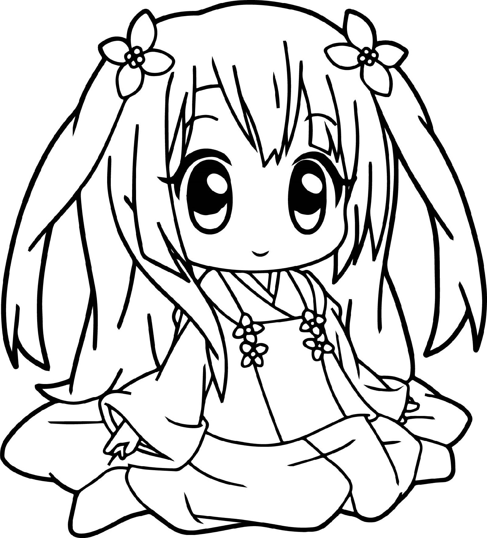 Cute Anime Coloring Pages