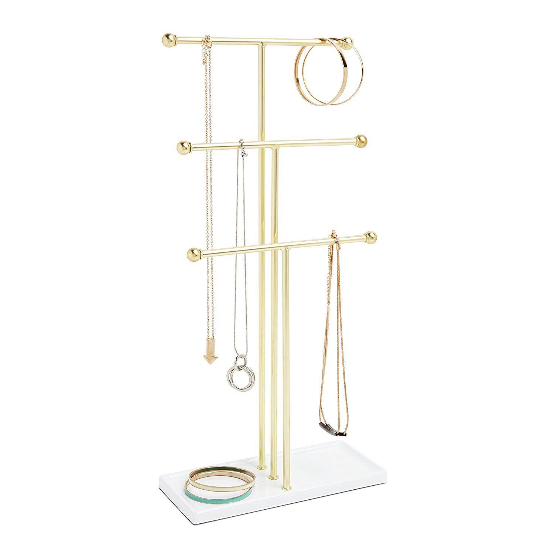 Amazoncom Umbra Trigem Hanging Jewelry Organizer 3 Tier Extra