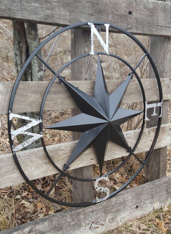 Nautical Wall Compass Compass Rose Metal Nautical Compass
