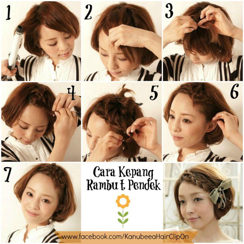 Kanubeea Hair Clip Tutorial Cara Kepang Rambut Pendek Rambut