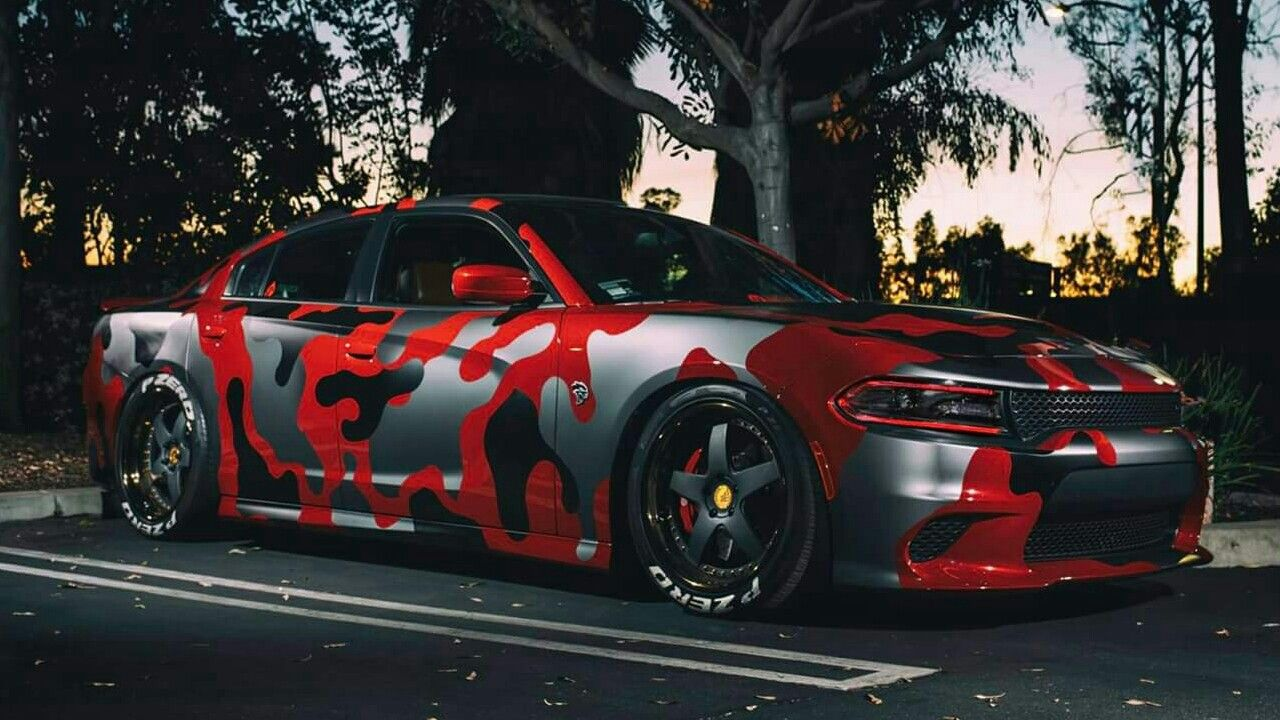 Red Camo Charger Facebook Metalroadstudio Very Cool