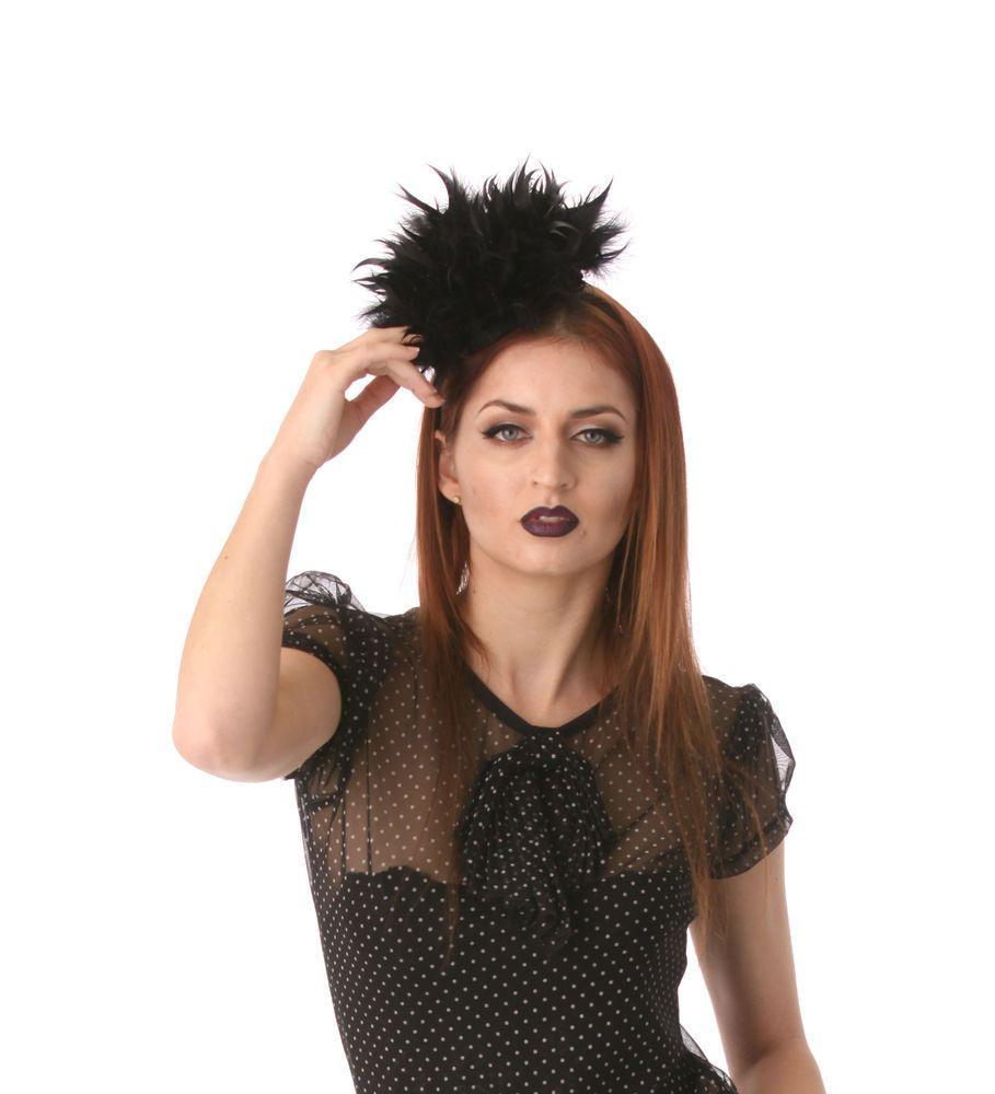 Black Spiked Feather Fascinator Head Piece #fascinatorstyles