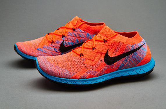 Nike Free Flyknit Mens Shoes Orange black