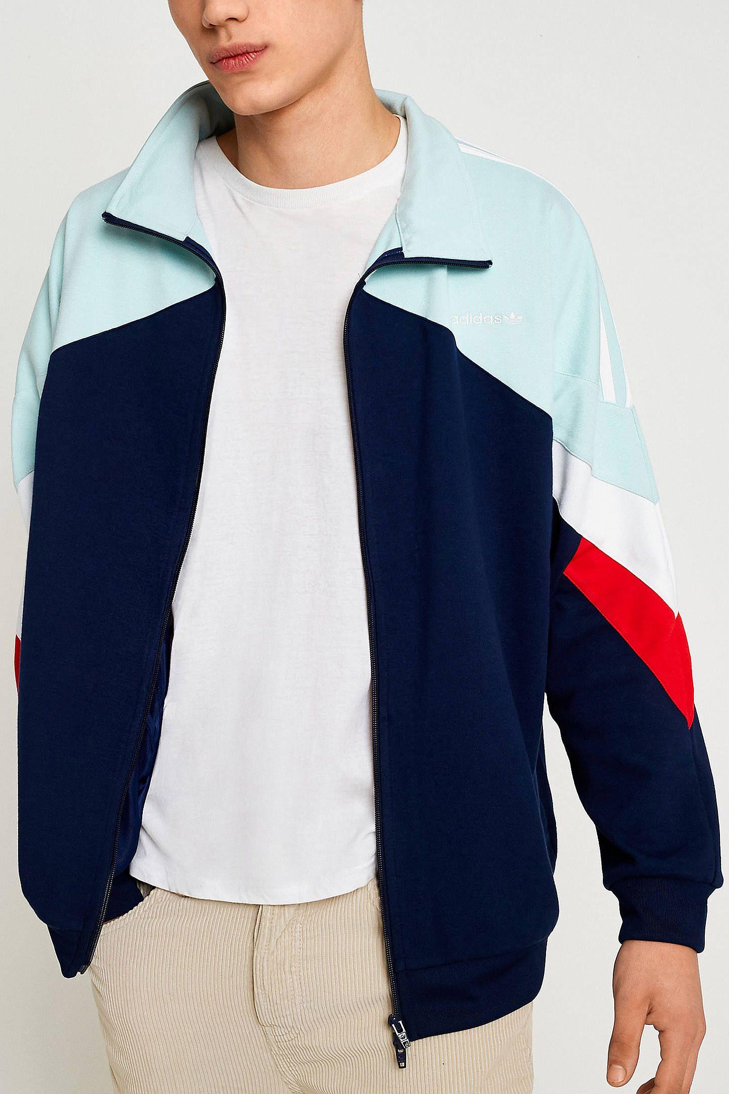 adidas Palmeston Navy Track Jacket   Jackets, Raincoat