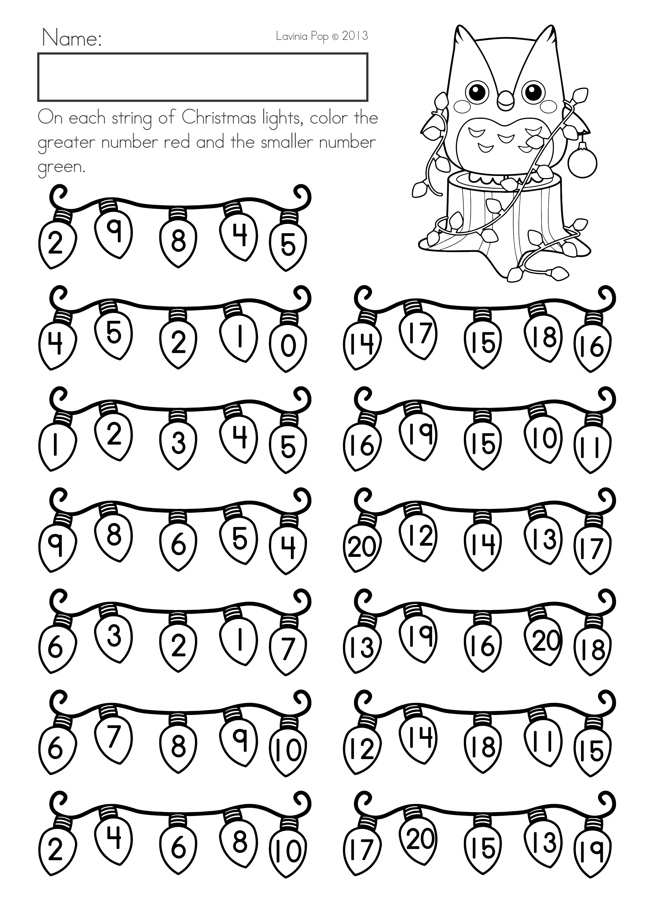 Christmas Math Literacy Worksheets Activities No Prep Packet For Kindergarten Smallest And Gre Literacy Worksheets Preschool Math Worksheets Math Literacy [ 3508 x 2482 Pixel ]
