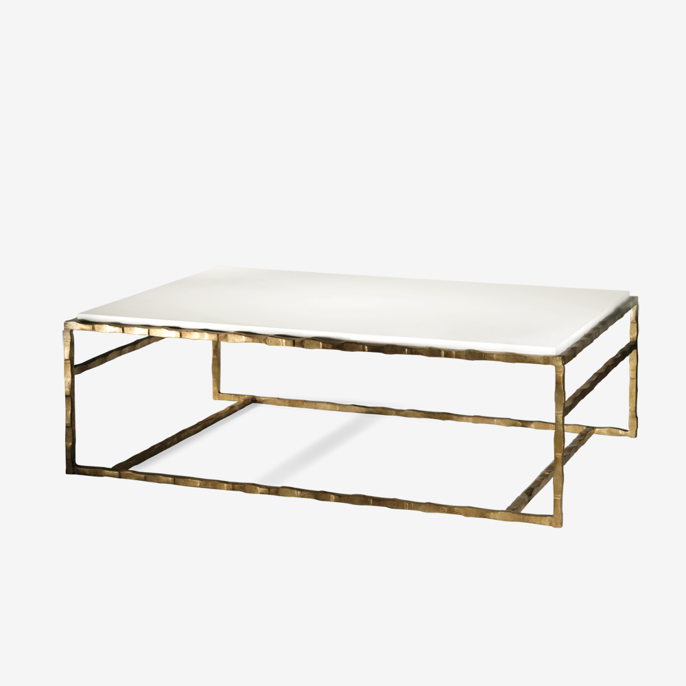 High Quality Porta Romana   CFT01, Giacometti Coffee Table   Versailles Gold With Faux Limestone  Top