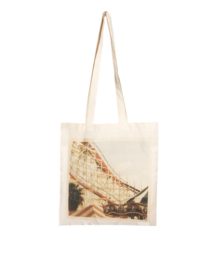 Borders & Frontiers Fairground Print Shopper - £12 | mode ...