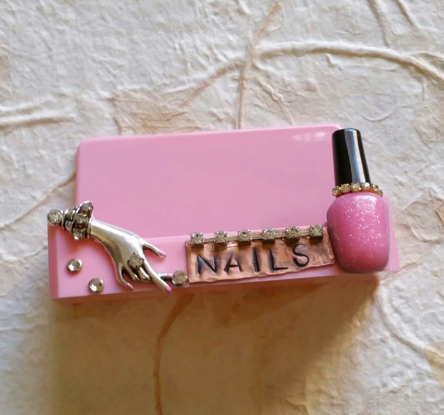 Nail Tech Business Card Holder by TheBohemianGypsy on Etsy