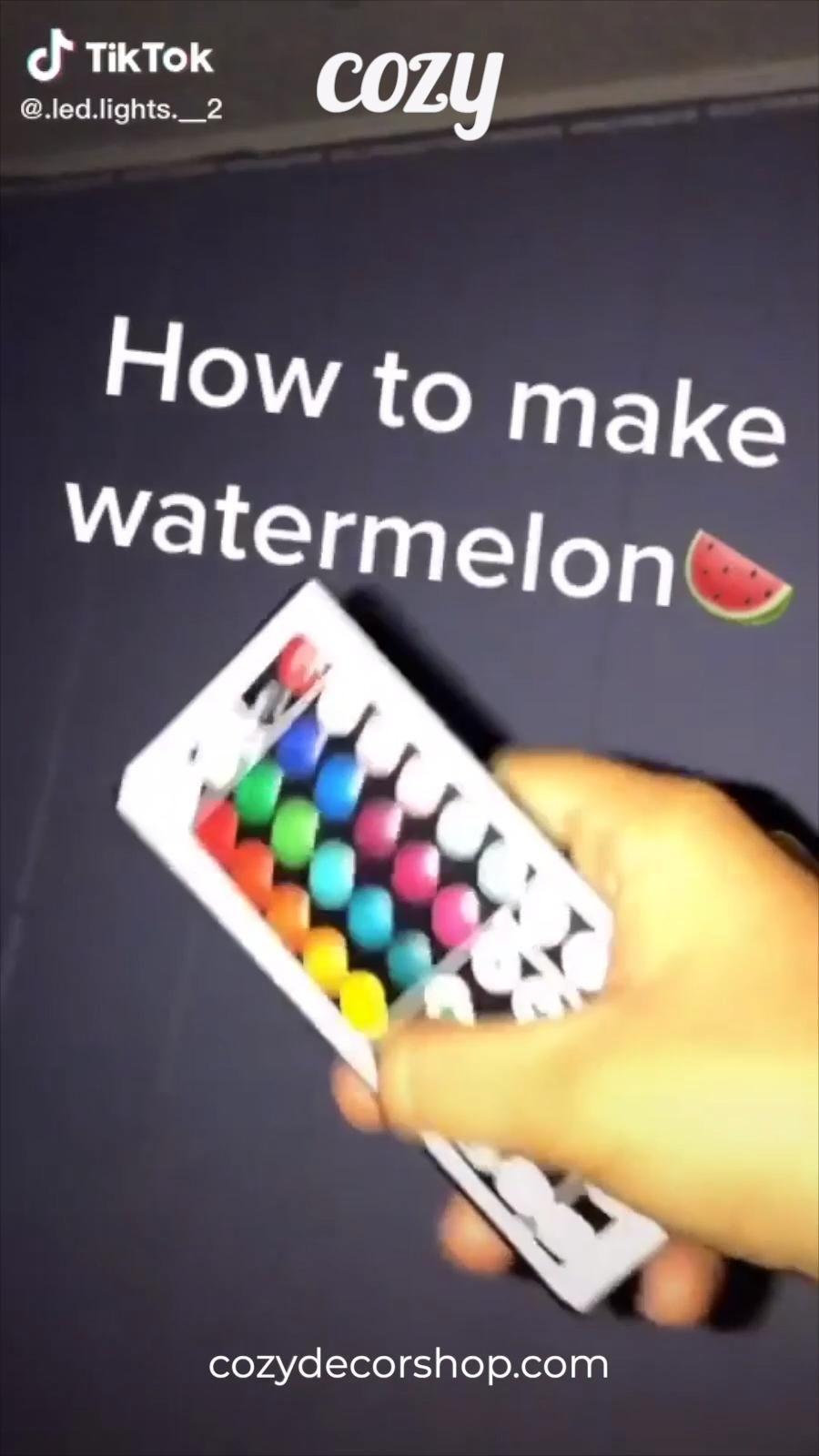 How To Make Watermelon Tiktok Led Lights Get Your Tiktok Led Strip Lights Today At Cozydecorshop Com Led Lighting Diy Led Room Lighting Led Light Strips Diy