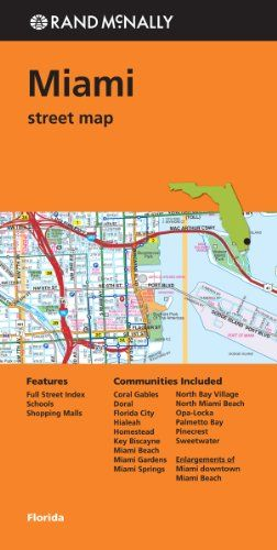 rand mcnally: miami street map (rand mcnally street map