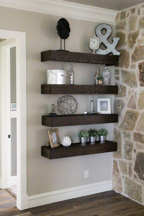 Wall Shelves For Living Room. DIY Floating Shelves for my Living Room  Pallet shelves