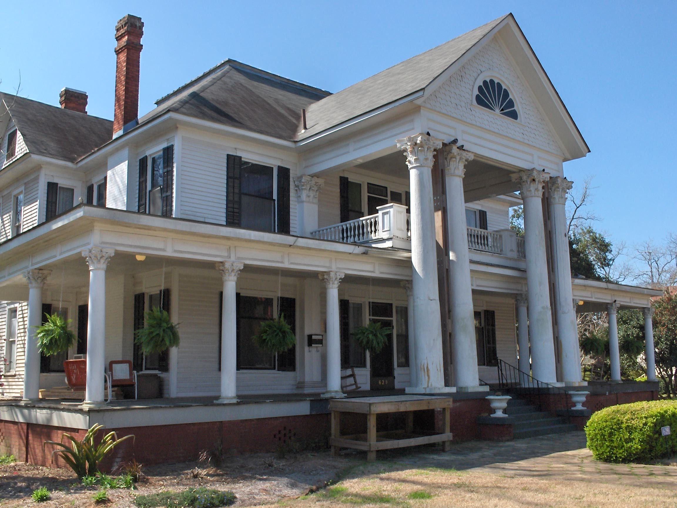 southern homes southern colonial revival style home was