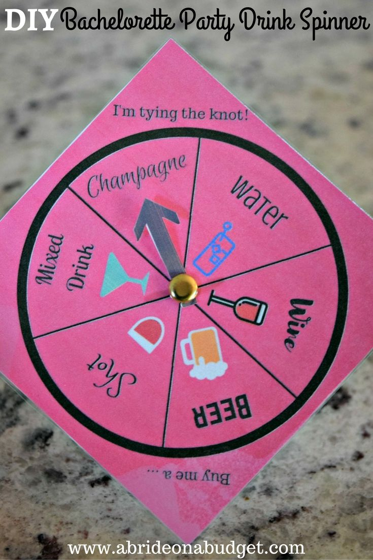 Diy Bachelorette Party Drink Spinner Diy Bachelorette Party Bachelorette Party Drinks Bachelorette Party